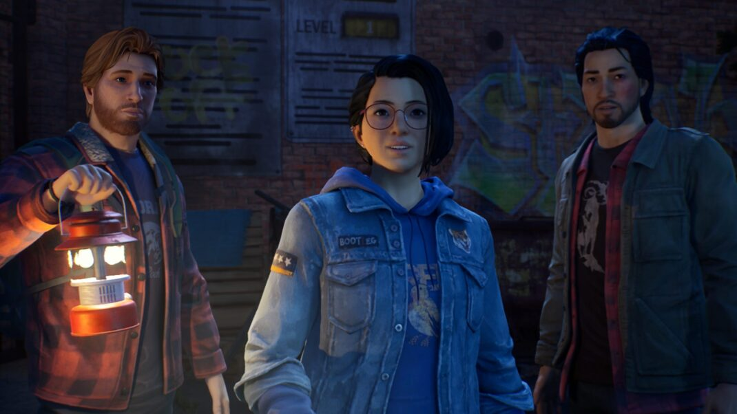 Ryan, Alex and Gabe stand next to each other